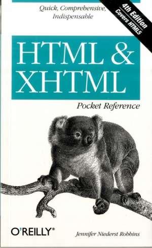 HTML &XHTML Pocket Reference
