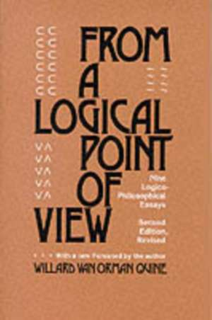 From a Logical Point of View – Nine Logical Philosophical Essays Rev (Paper)