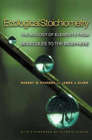 Ecological Stoichiometry – The Biology of Elements from Molecules to the Biosphere imagine