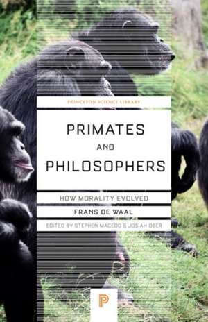 Primates and Philosophers – How Morality Evolved de Frans De Waal