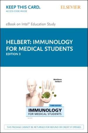 Immunology for Medical Students Elsevier eBook on Intel Education Study (Retail Access Card)