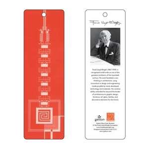 Semn de carte Frank Lloyd Wright Taliesin West Gate (rosu)