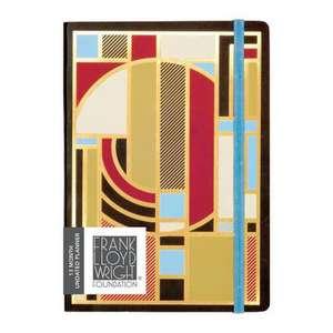 Frank Lloyd Wright Gilded Planner 13 x 18 cm de Galison