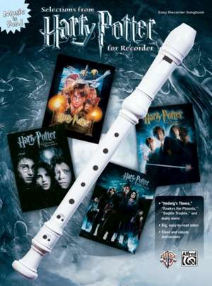Selections from Harry Potter for Recorder de Alfred Music