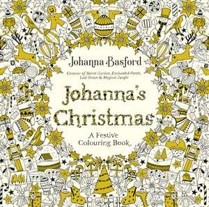 Carte de colorat Crăciun Johanna Basford Johanna's Christmas de Johanna Basford