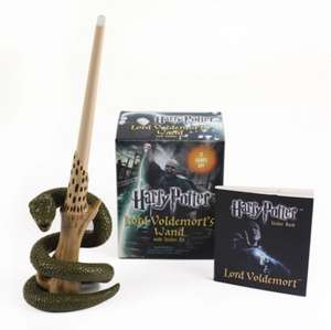 Harry Potter Voldemort's Wand with Sticker Kit: Lights Up! de Running Press