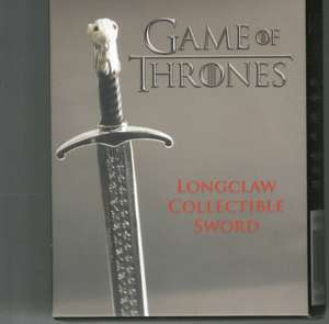 Game of Thrones: Longclaw Collectible Sword de Running Press
