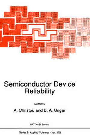 Semiconductor Device Reliability de A. Christou