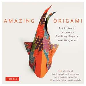 Amazing Origami Kit: Traditional Japanese Folding Papers and Projects [144 Origami Papers with Book, 17 Projects] de Tuttle Editors