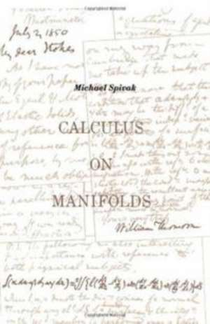 Calculus On Manifolds imagine