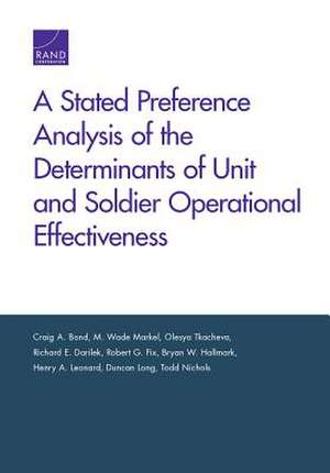 STATED PREFERENCE ANALYSIS OF de Todd Nichols