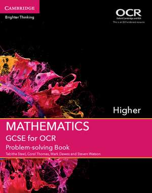 GCSE Mathematics for OCR Higher Problem-solving Book