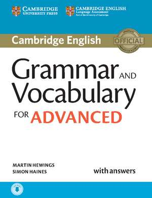 Grammar and Vocabulary for Advanced Book with Answers and Audio imagine