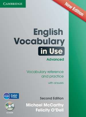 English Vocabulary in Use Advanced with CD-ROM: Vocabulary Reference and Practice de Michael McCarthy