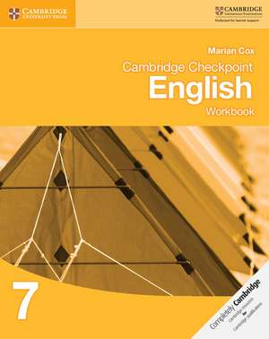 Cambridge Checkpoint English Workbook 7