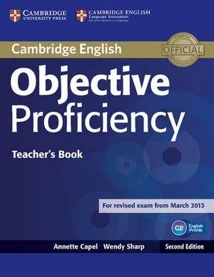 Objective Proficiency Teacher's Book de Annette Capel