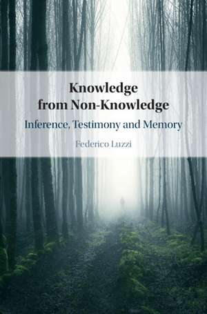 Knowledge from Non-Knowledge: Inference, Testimony and Memory de Federico Luzzi