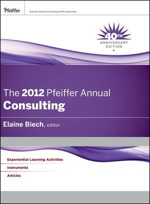 The 2012 Pfeiffer Annual