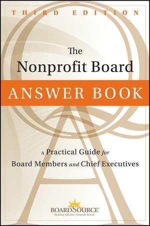 The Nonprofit Board Answer Book imagine