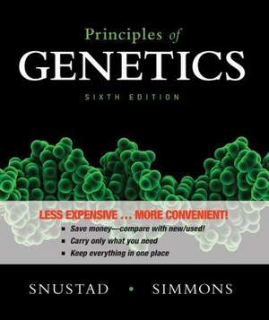 Principles of Genetics de D. Peter Snustad