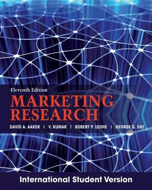 Marketing Research: International Student Version de David A. Aaker