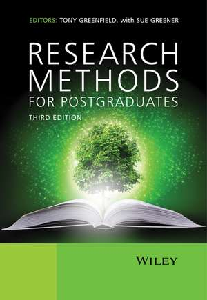 Research Methods for Postgraduates de Tony Greenfield
