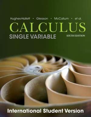 Calculus: Single Variable de Deborah Hughes–Hallett