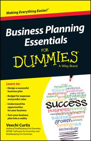 Business Planning Essentials For Dummies de Veechi Curtis