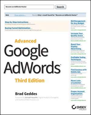 Advanced Google AdWords de Brad Geddes