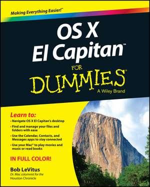 OS X El Capitan For Dummies de Bob LeVitus