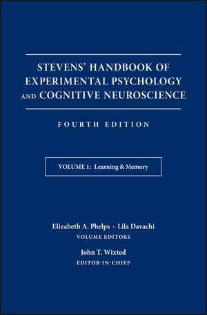 Stevens′ Handbook of Experimental Psychology and Cognitive Neuroscience