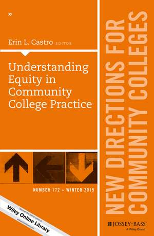 Understanding Equity in Community College Practice: New Directions for Community Colleges, Number 172