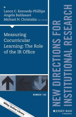 Measuring Cocurricular Learning: The Role of the IR Office