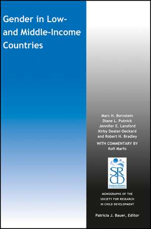Gender in Low and Middle–Income Countries