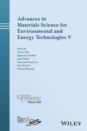Advances in Materials Science for Environmental and Energy Technologies V