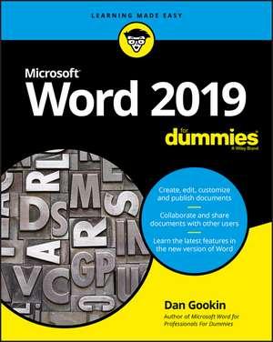 Word 2019 For Dummies imagine
