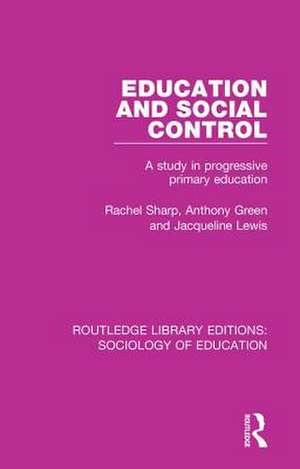 EDUCATION & SOCIAL CONTROL de RACHEL SHARP