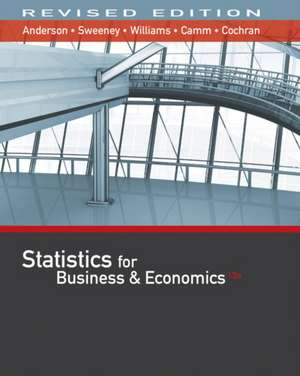 Statistics for Business & Economics, Revised (with Xlstat Education Edition Printed Access Card) de David R. Anderson