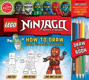 Lego Ninjago How to Draw Ninja, Villains, and More! de Editors of Klutz