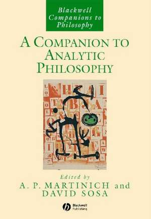 A Companion to Analytic Philosophy de A. P. Martinich