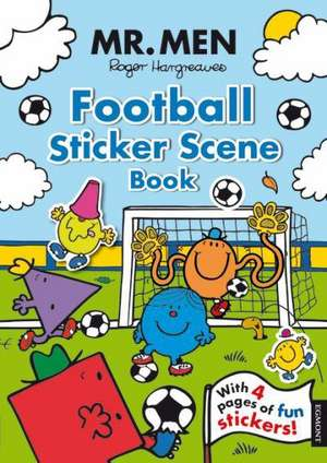 Mr. Men Football Sticker Scene