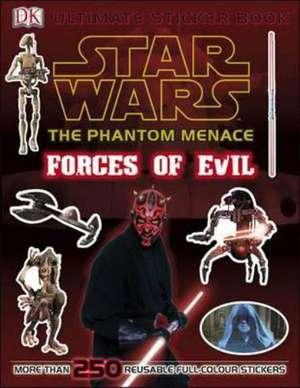 Star Wars The Phantom Menace Ultimate Sticker Book Forces of Evil