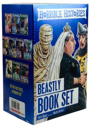 HORRIBLE HISTORIES 10 BOOK BOX SET