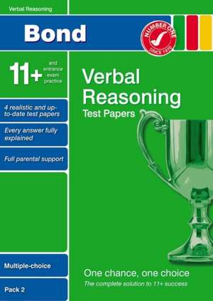 Lindsay, S: Bond 11+ Test Papers Verbal Reasoning Multiple-C