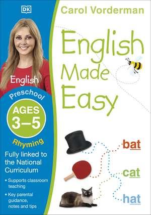 English Made Easy Rhyming Ages 3-5 Preschool Key Stage 0 de Carol Vorderman