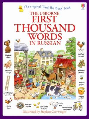 First Thousand Words in Russian de Heather Amery