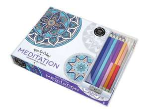 Vive le Colour! Meditation (Adult Colouring Book and Pencils)