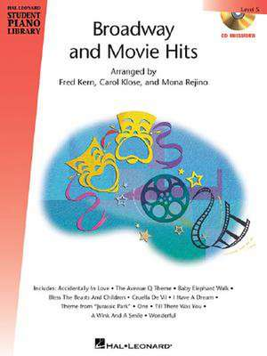 Broadway and Movie Hits - Level 5 - Book/CD Pack de Carol Klose