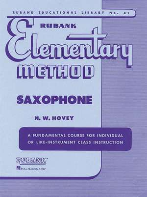 Rubank Elementary Method Saxophone imagine