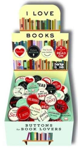 I Love Books Button Box de Michel Vrana